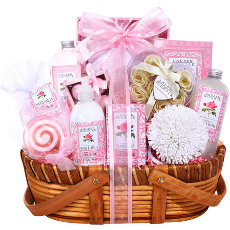 Scent Of A Rose Spa Gift Basket Baskets For Her