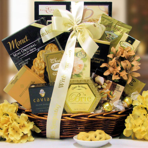 With Our Thoughts Bereavement Gift Basket