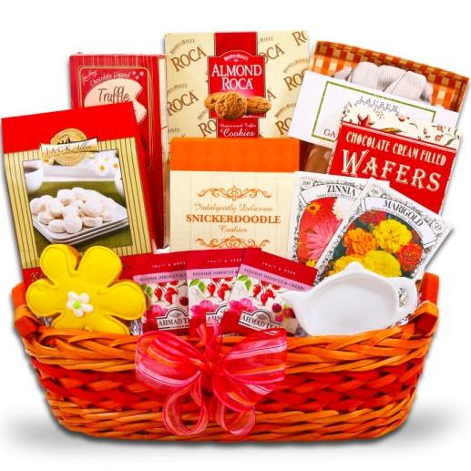 Mothers Day Gourmet Tea Garden Gift Basket