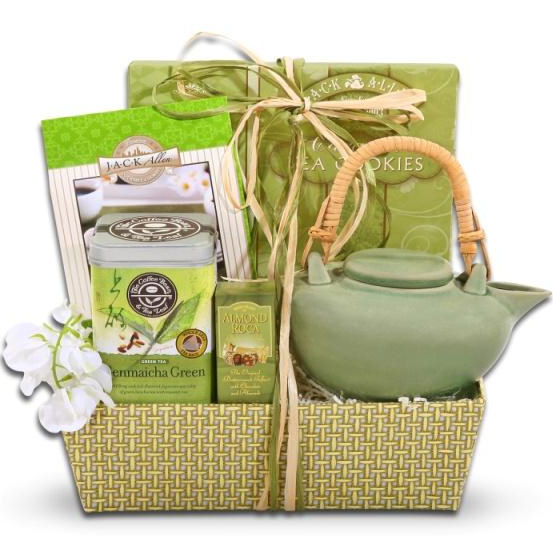 Mother S Day Green Tea Cookies Gift Basket Baskets For Her