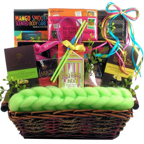 Tropical Beach Spa Gift Basket Baskets For Her