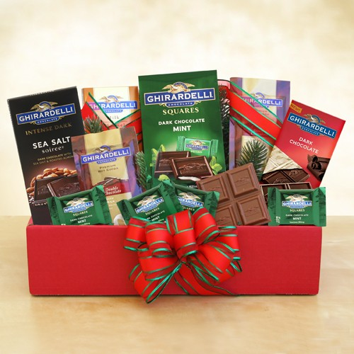 A Holiday Classic Ghirardelli Chocolate Gift & A Holiday Classic Ghirardelli Chocolate Gift - Baskets for Her