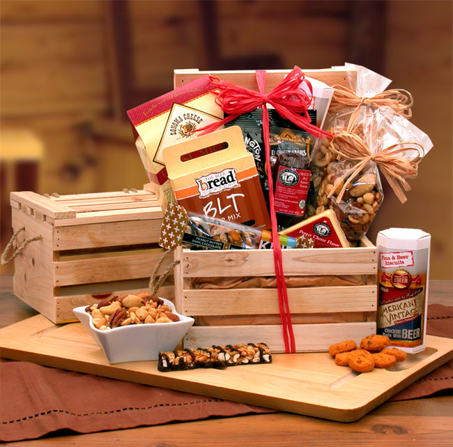 Premium Nuts Snacks Crate Baskets For Her