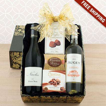 French Wine And Chocolate Gift