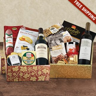 Taste of the Old Country Italian Wines & Antipasto Double Decker Gift Box ...