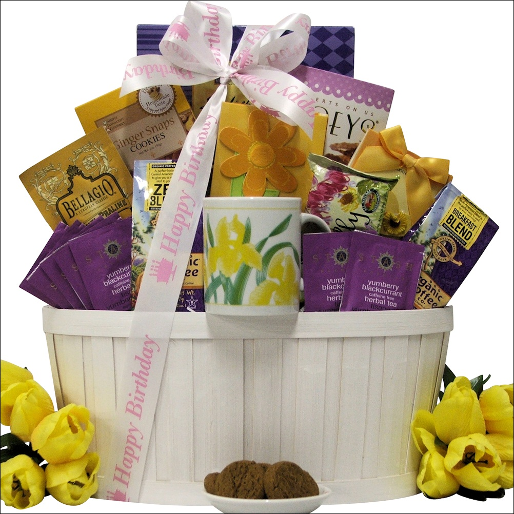 Zen Blend Coffee Tea Birthday Gift Basket