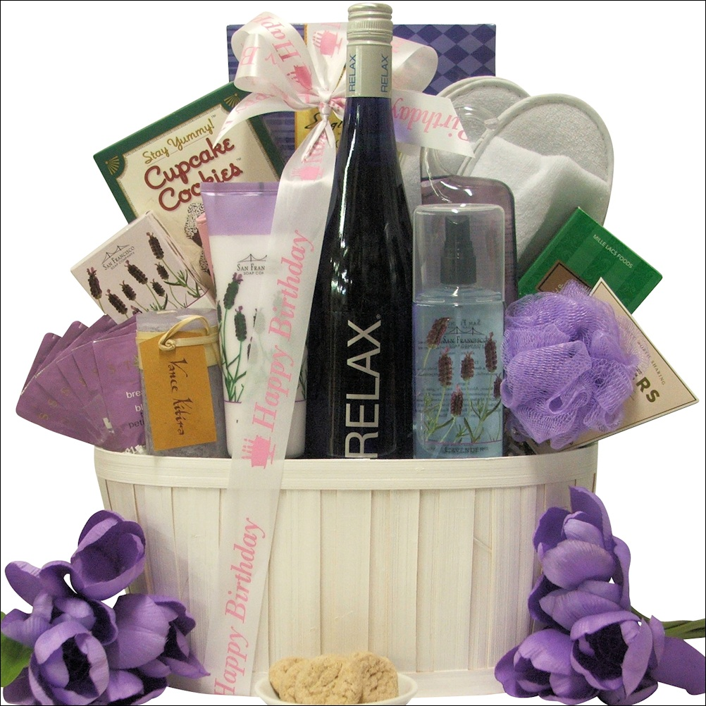RELAX Riesling Birthday Wine Spa Gift Basket