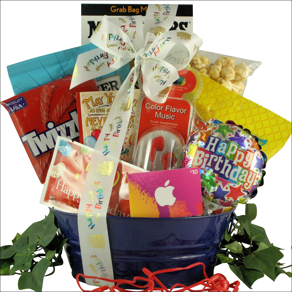 Birthday Tunes Kids Gift Basket For Boys Ages 9 To 12