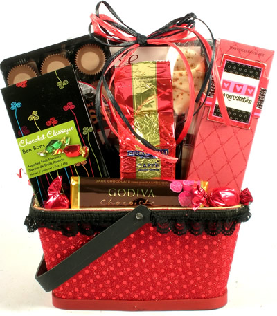 X S And O S Valentines Day Gift Basket Baskets For Her
