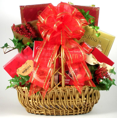 Love Is Sweet Valentine S Day Gift Basket Baskets For Her