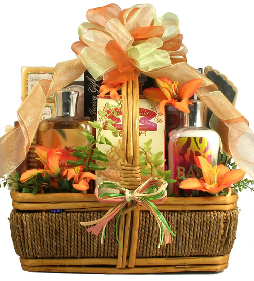 In The Tropics Tropical Spa Gift Basket Baskets For Her